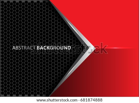 abstract metal arrow on red