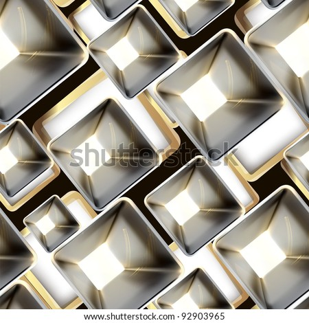 Abstract metal seamless pattern, vector