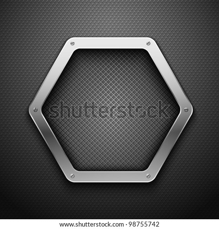 Abstract metallic background. Vector illustration.