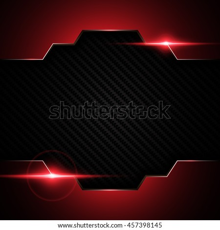 abstract metallic black red