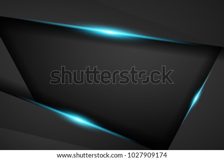 abstract metallic blue black