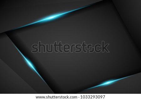 abstract metallic blue black