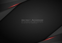 Abstract Metallic modern Red black frame design innovation concept layout background.