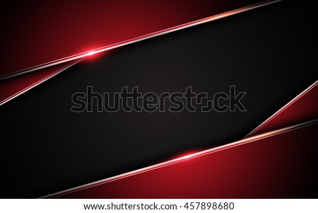 abstract metallic red black frame layout design tech innovation concept background - Shutterstock ID 457898680