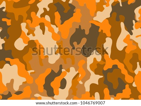 stock-vector-abstract-military-or-hunting-camouflage-background-woodland-camo-texture-vector-orange-tone