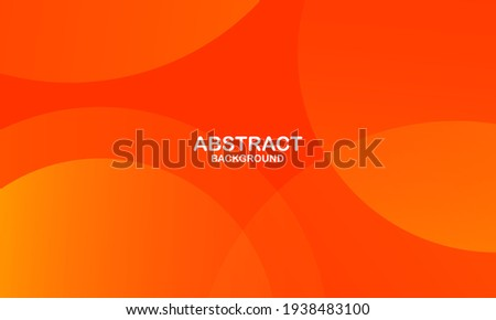 Abstract minimal background with orange color. Dynamic shapes composition. Eps10 vector