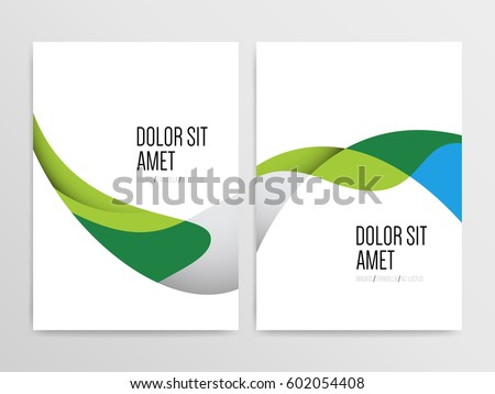 Abstract minimal brochure cover or poster design templates. Vector illustration.