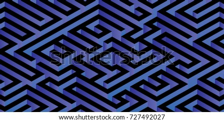 abstract minimal 3d labyrinth