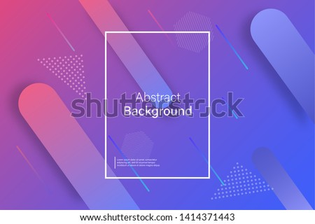Abstract minimal geometric background. Colorful dynamic shapes. EPS 10 stock vector #1414371443