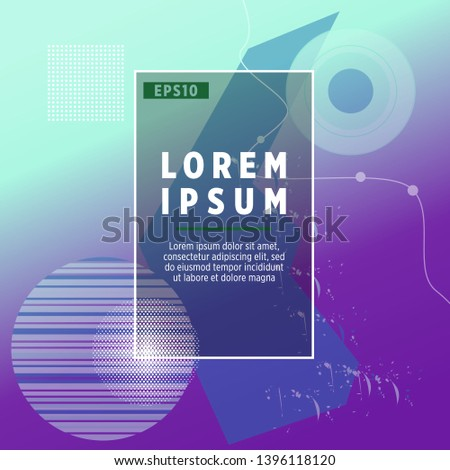Abstract Minimal geometric vector multicolored background with shadow, dots and lines. Dynamic shapes composition. Eps10 vector #1396118120