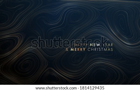 Abstract minimal memphis style background with liquid gradient lines flow. Modern poster design with topography relief shapes. Marble gold texture effect. Eps10 vector illustration.