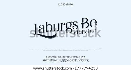 Abstract minimal Serif alphabet fonts. Typography technology vector illustration