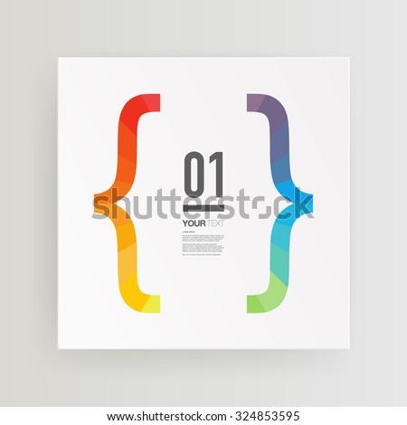 abstract minimal text box