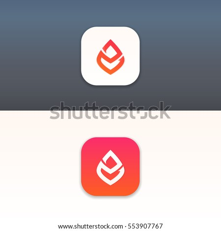 abstract minimalistic fire icon