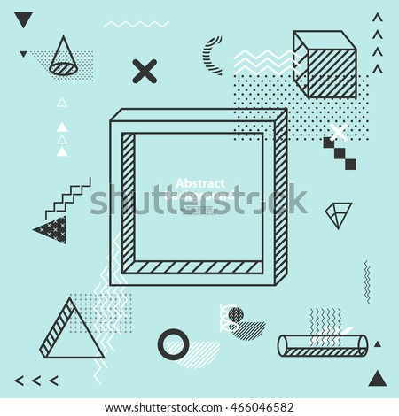 abstract minimalistic flat