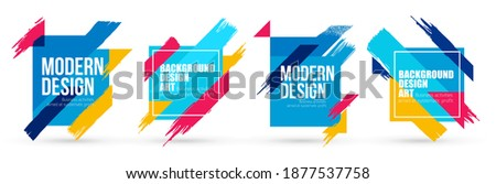Abstract minimalistic stylish geometry with brush strokes hipster colored frame design. Vector line gradient halftone. frame for text Modern Art graphics. vector illustration