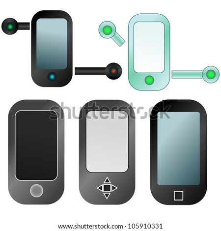 Abstract mobile devices icon set