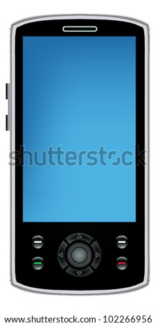 abstract mobile phone isolated on white background. vector mesh illustration.  EPS10 - stock vector