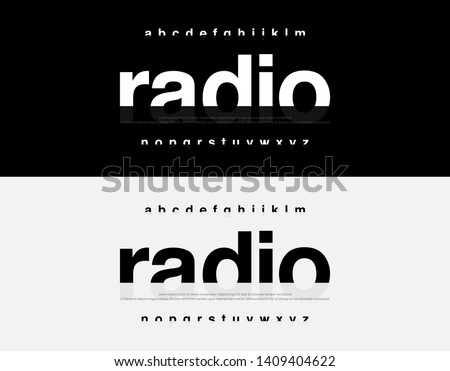 Abstract Modern Alphabet Font. Typography urban style fonts for technology, digital, movie logo design. vector illustration