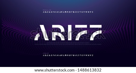 abstract modern alphabet fonts