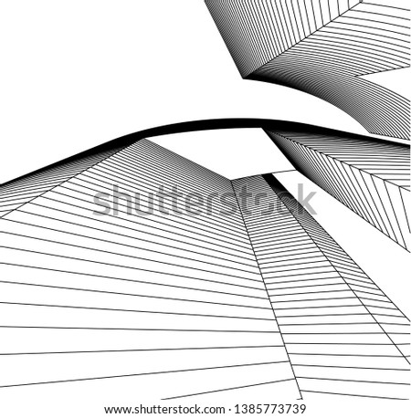 Abstract modern architecture building 3d  #1385773739