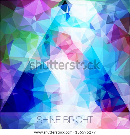 Abstract modern background cosmic hipster crystal