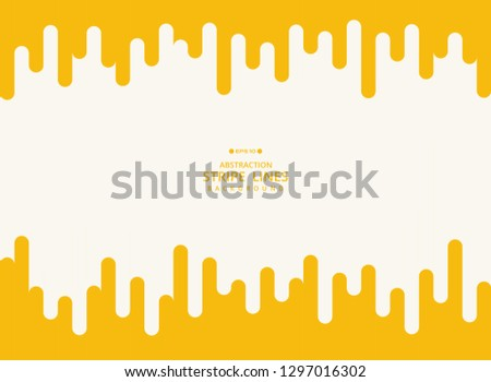 Abstract modern background of yellow stripe line geometric pattern. Using for poster, brochure, ad, art design. vector eps10 #1297016302