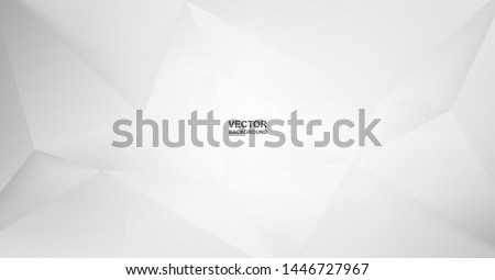 Abstract .Modern background. White polygon background. vector. #1446727967