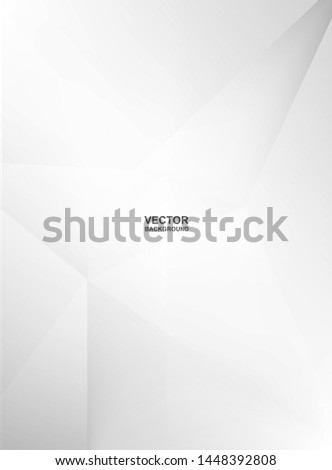 Abstract .Modern background. White polygon background. vector. #1448392808