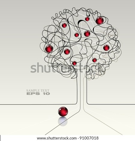 abstract modern background with apple tree