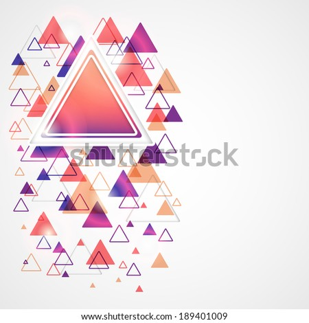 Abstract modern background with colored triangles