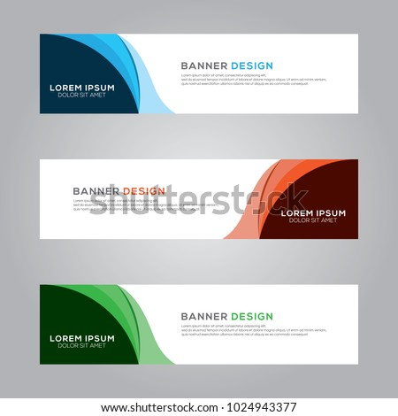 Abstract Modern Banner Background Design Vector Template #1024943377