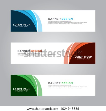 Abstract Modern Banner Background Design Vector Template #1024943386