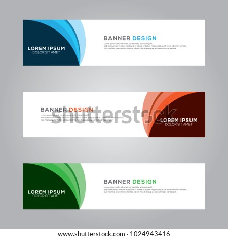 Abstract Modern Banner Background Design Vector Template #1024943416
