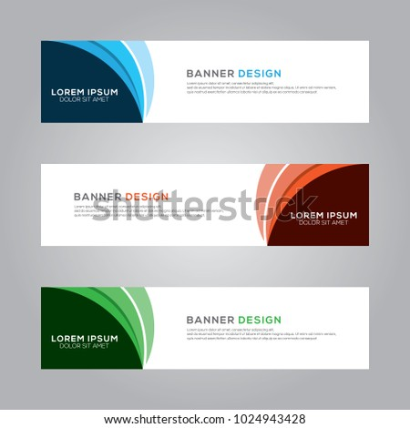 Abstract Modern Banner Background Design Vector Template #1024943428