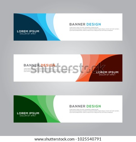Abstract Modern Banner Background Design Vector Template #1025540791