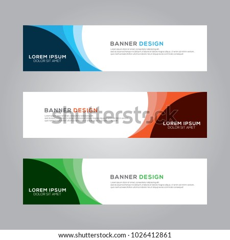 Abstract Modern Banner Background Design Vector Template #1026412861