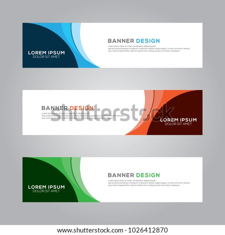 Abstract Modern Banner Background Design Vector Template #1026412870