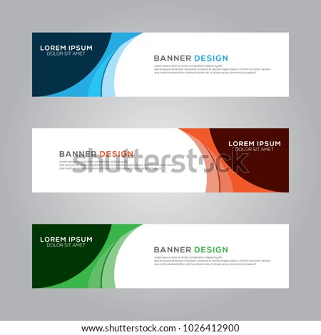 Abstract Modern Banner Background Design Vector Template #1026412900