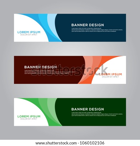 Abstract Modern Banner Background Design Vector Template #1060102106