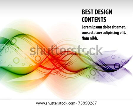 Abstract modern banner theme background with circles and splash, Editable Illustration