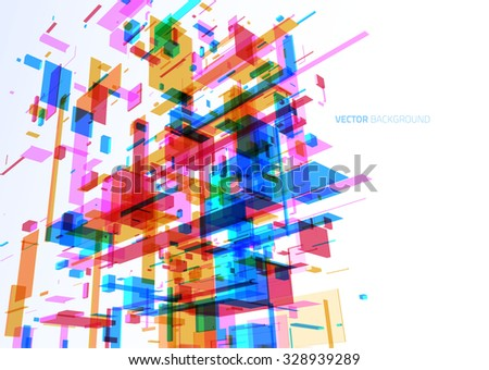 abstract modern blue wall of