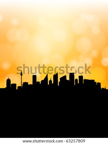Abstract modern city (fully editable and can be combined with other silhouettes) - stock vector