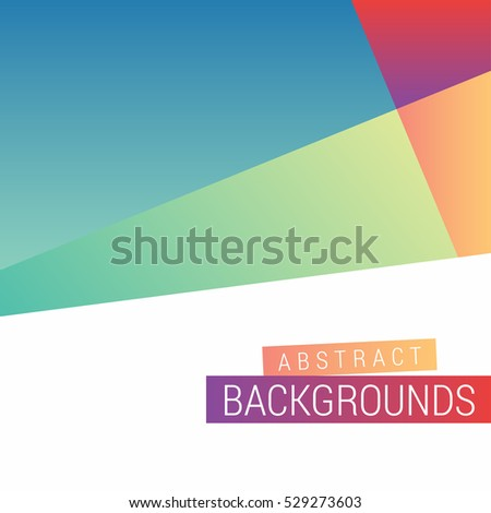 Abstract Modern Design. Play Google Style colorful wallpaper template. google android platform colorful modern design background template. vector google advertisement banner template