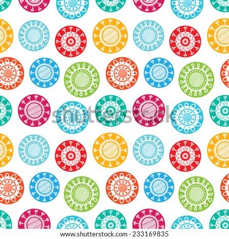 abstract modern flat fun colorful floral seamless scandinavian wallpaper background pattern design