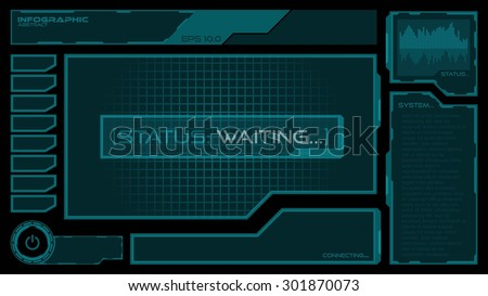abstract modern futuristic hud