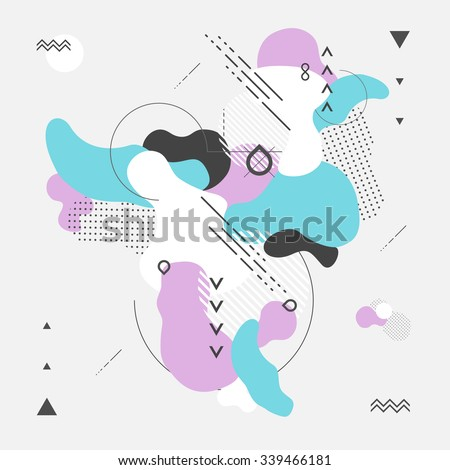 Abstract modern geometric background #339466181