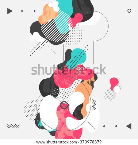 Abstract modern geometric background #370978379