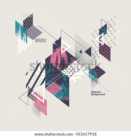 abstract modern geometric
