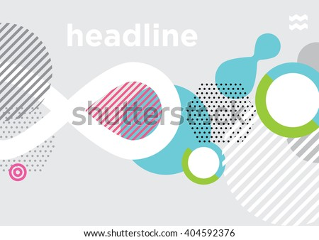 Abstract modern geometric background/ Annual Report Cover Design